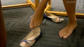 Candid Asian teen feet