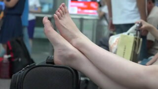 Chinese feet in airport