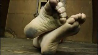 Dirty feet tease